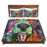 DiaNoche Designs Dean Russo-Basset Hound Dog 31 Brushed Twill Home Decor Bedding Cover, 8 King Duvet Sham Set