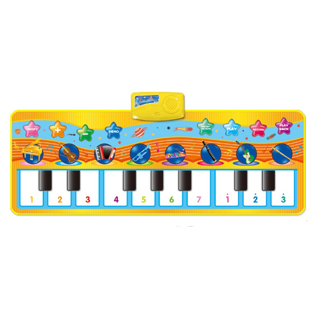 LOBZON Keyboard Piano Mat, 8 Selectable Musical Instruments - Play - Record - Playback - 9 Selectable Demo - mode