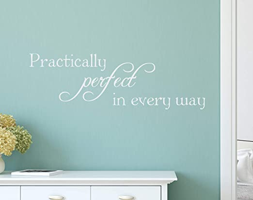 **Practically Perfect Vinyl Decal Home Wall Decor **