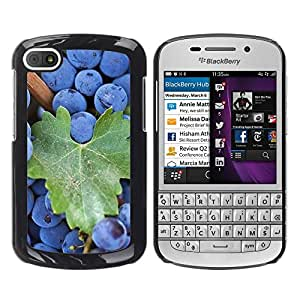 Paccase / SLIM PC / Aliminium Casa Carcasa Funda Case Cover - Fruit Macro Blueberries - BlackBerry Q10