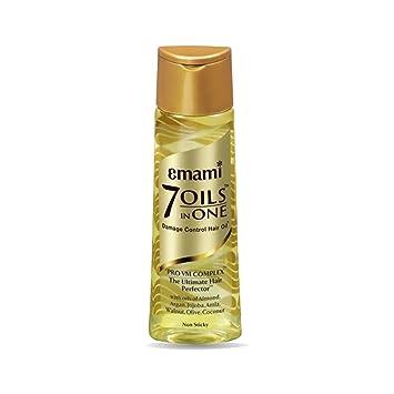 7 Aceites En Uno daños Control pelo aceite de almendra, argán, Coco, nogal, aceite de oliva, aceite de jojoba, Amla aceite de semillas: Amazon.es: Belleza