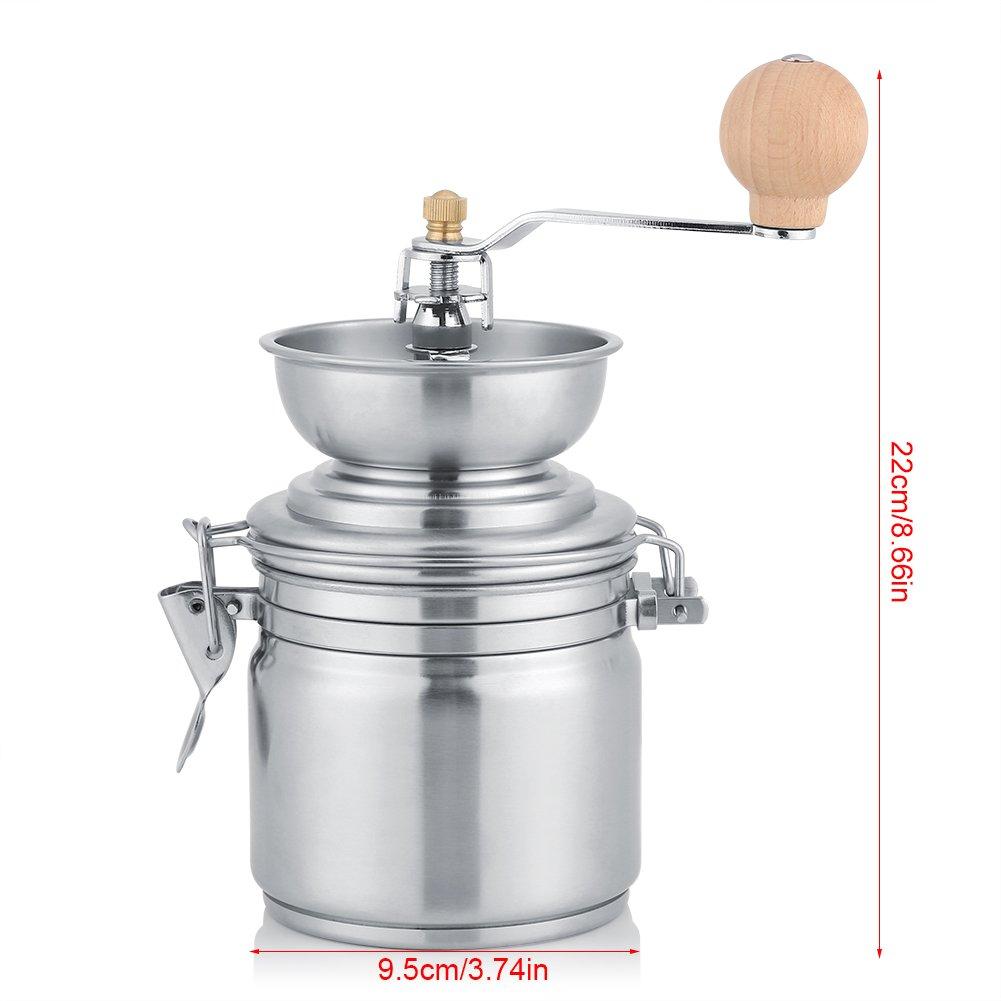 Fdit Molinillo de caf/é manual de especias tuercas banco molinillo de hierbas m/áquina de acero inoxidable grosor regulable manivela de mano Herramienta