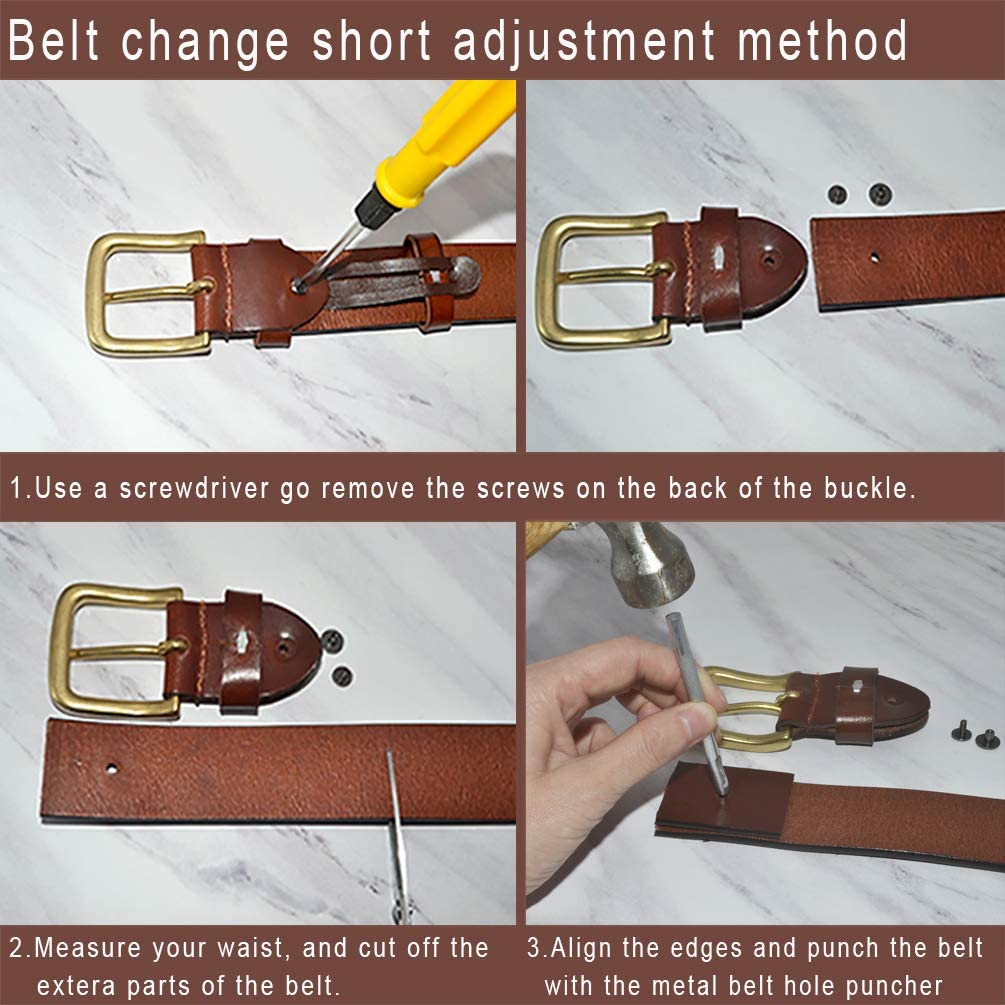 AmyKer Women Vintage Genuine Leather Belts With Embossed Buckle Belts for Jeans Pants Dresses Red,Yellow,Brown,Black,Gift Box,Ak011
