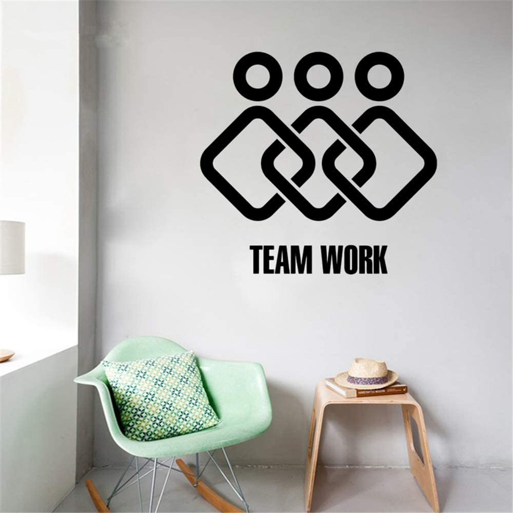 Amazon Com Jisou Lettering Words Wall Mural Diy Removable Sticker Decoration Teamwork Home Office Decor Logotype Stickers Study Meeting Room Home Kitchen