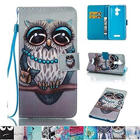 Asus ZenFone 3 Max ZC520TL Case, Firefish Kickstand Leather Wallet Case with Card Slots Shock Resistance Slim Bumper Cover Magnetic Closure Protect Case for Asus ZenFone 3 Max ZC520TL (Stitch Cell Phone Case)