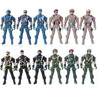 guoYL26sx Toys 9cm Mini Kids Plastic Military Soldier Model Army Men Figure Toy Home Decor - Random Style