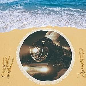 """your-fantasia locomotora de vapor Circular playa Picnic Camping playa chal exterior 59""""x 59"""""""