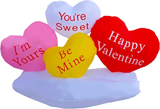 I Love You Vinyl Inflatable Heart Valentines Day Sweetest Day Anniversary 10 in