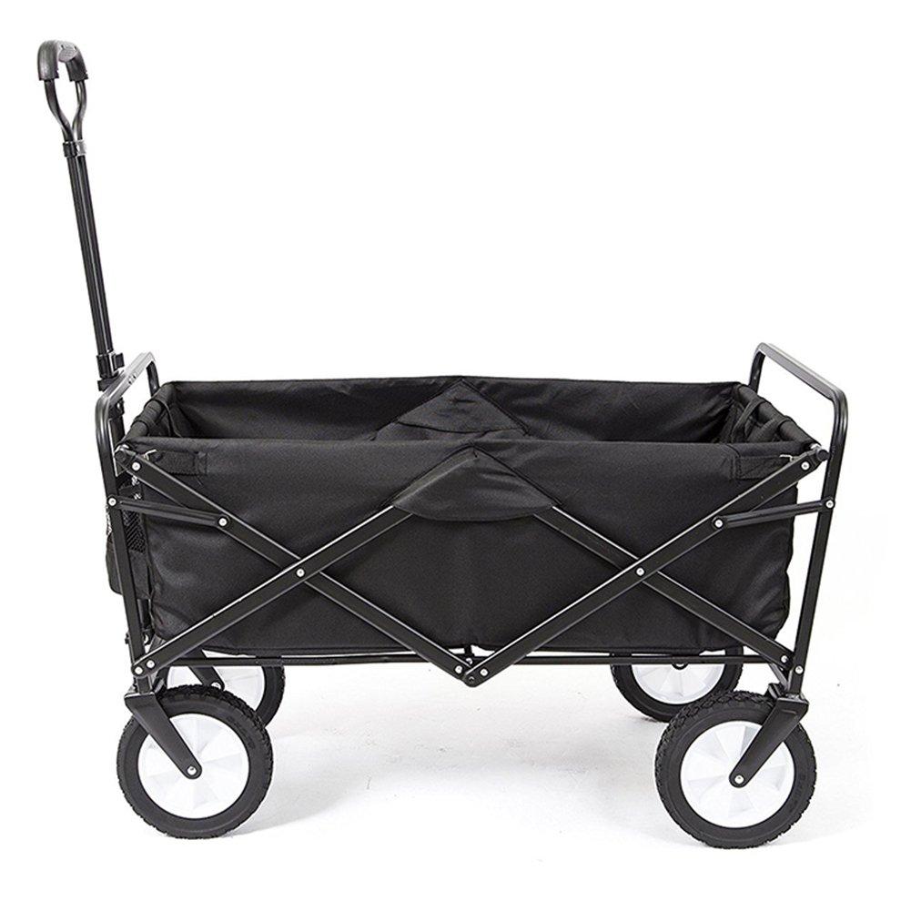 キャリーカートアウトドアワゴン超強軸受 分解できます 耐水洗い 折りたたみやすい 鋼 オックスフォード布 5色 (色 : Black, サイズ さいず : 100x50x55cm) B07FY4CDQ1 100x50x55cm Black Black 100x50x55cm