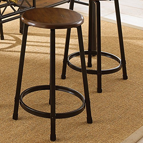24h Counter Stool - Steve Silver Rebecca 24 in. Wood & Metal Counter Stools - Set of 2