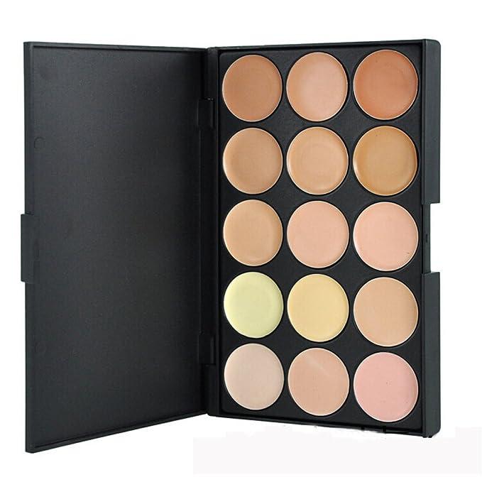 Addfavor 15 Colors Professional Concealer Palette Concealer Foundation Makeup Palettes Cosmetic Camouflage Contour Palette Beauty Set Kit (#02)
