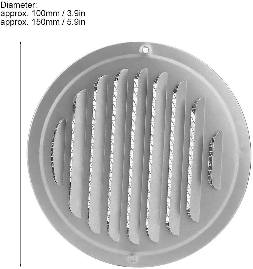 150mm Jeffergarden 100mm 150mm INOX Tuyau Sortie dair Sortie Grille Ronde Couverture De Ventilation pour Home Office