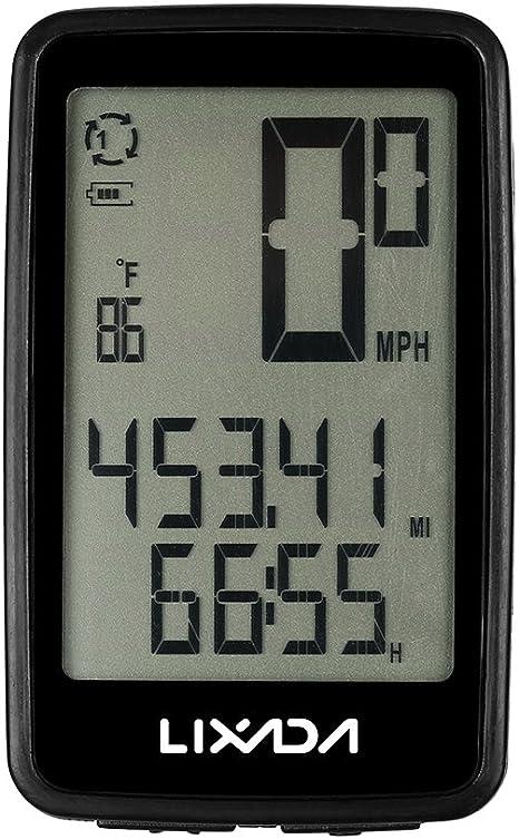 Lixada Wireless Bike Ordenador con Sensor de Cadencia de Bicicleta Velocímetro Odómetro USB Recargable: Amazon.es: Deportes y aire libre
