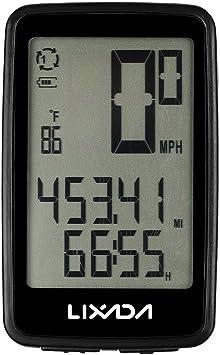 Lixada Cuentakilómetros para Bicicleta Inalámbrico USB Recargable ...