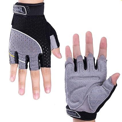 Gym Fingerless Gloves,Non-slip Sport Half Finger Cycling Yoga Gym Training Gloves Purple