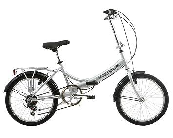 Mizani City+ - Bicicleta urbana plegable plata plata