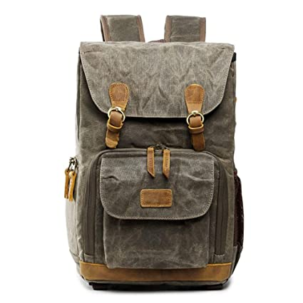 ebca8a8ae272 Amazon.com  Botrong Premium Vintage Photography Backpack Waterproof ...