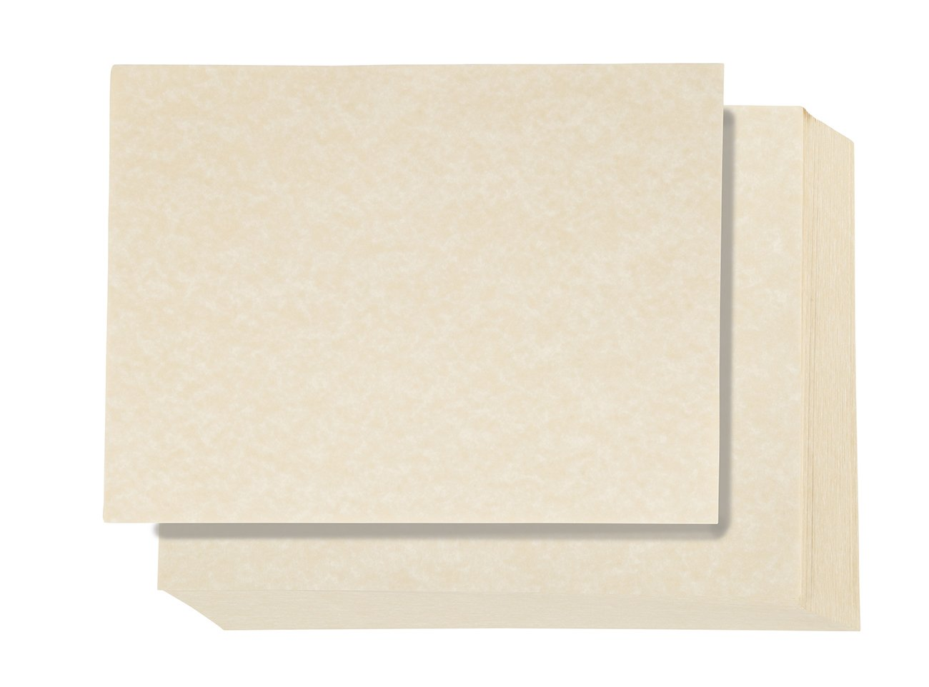 Pack of 96 Aged Parchment Paper - Parchment Paper with Parchtone Paper - Vintage Scrapbook Paper, Cream, 8.5 x 11 inches