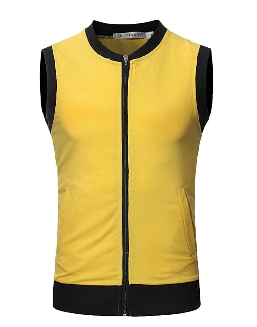 Colourful Mens Simple Hipster Novelty Sports Zip Lightweight Classic Basic Vest