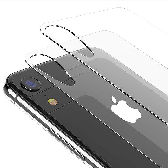 promo code bb47f ab4d1 Kolpop iPhone XR Back Glass Protector (2 Pack), Clear Back Screen Protector  Film [Anti-Scratch] [Anti-Fingerprint] [Case Friendly] Rear Tempered Glass  ...