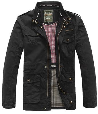 new products 086b4 6f1cc SZYYDS, giacca primaverile, da uomo, in cotone, con colletto ...