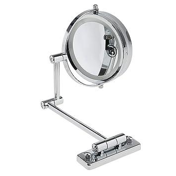 Casa Pura® Kosmetikspiegel Für Die Wandmontage | Mit LED Beleuchtung | 3  Hohe Vergrößerungsgrade Wählbar ...