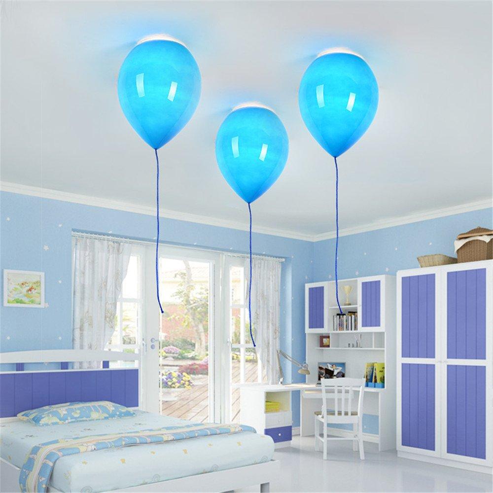 Der Ballon deckenleuchte,1XE27,40W,5 farbe gelb, Blau,wei/ß, orange, rot und gr/ün Moderne schatten kinder platz,Glas lampenschirm,party bar festival
