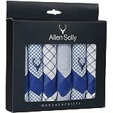 Allen Solly Men's Cotton Handkerchief AHW16357E_Free Size (Multicolour) - Pack of 6