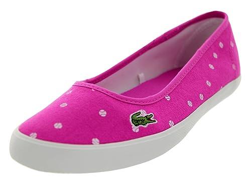 0ddc5aa8e Lacoste Women s Marthe TBL 2 Purple White Flat 10 M  Buy Online at ...