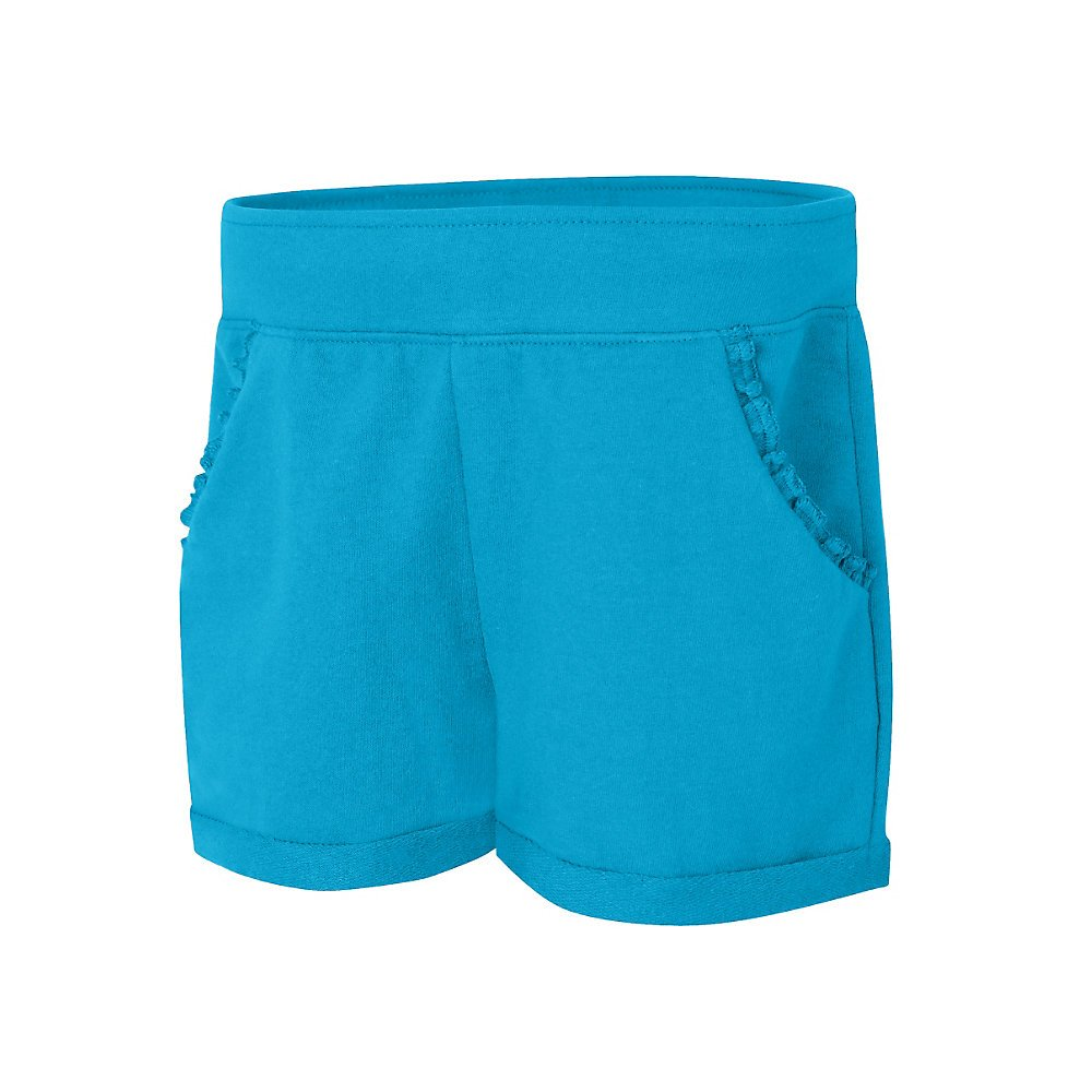 Hanes Girls Ruffle Pocket Short Ok263/_Process Blue/_M