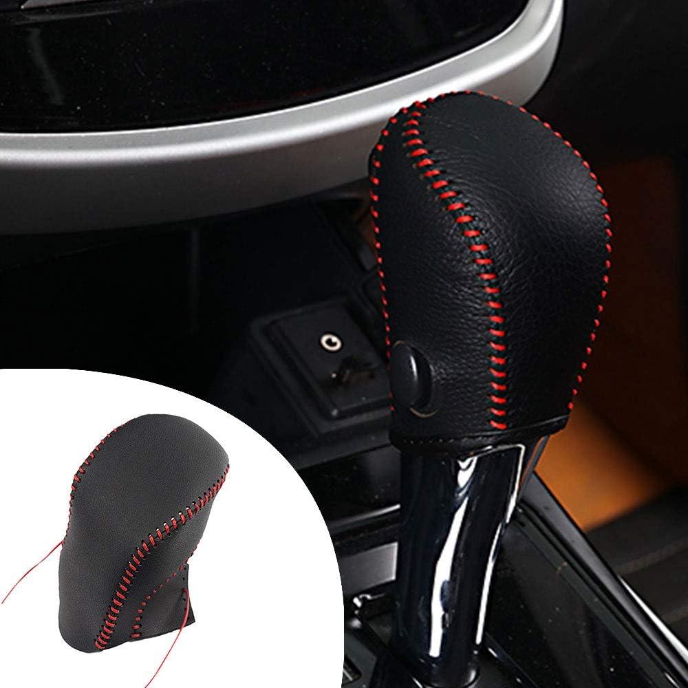 Pour Manuelle MT LIVINA 07-18 Tiida 05-10 Qashqai 08-12 MARCH 10-15 SYLPHY 2018 Cuir Coque de Protection de Changement de Vitesse Housse de Pommeau de Levier de Vitesses Noir Type M