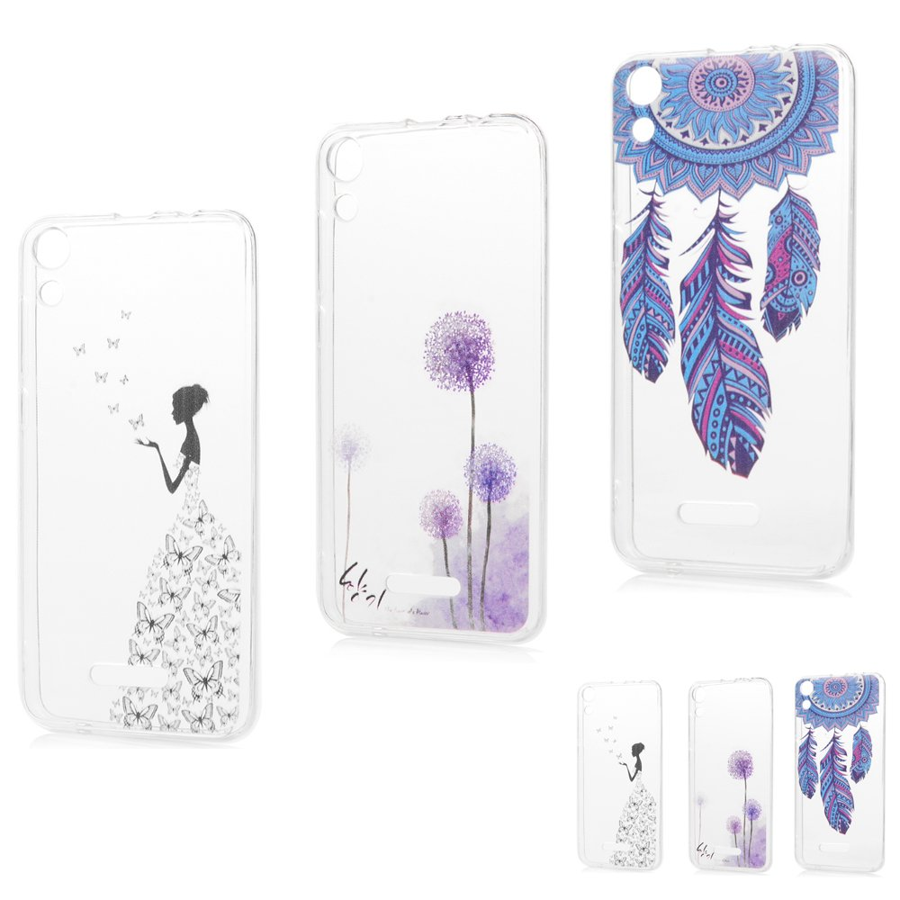Coque Wiko Lenny 4 Silicone Transparent Housse Etui Protection Mince Souple Gel Case Cover Flip TPU Extrêmement et Flexible Original Motif Coques pour Apple Wiko Lenny 4 - MAXFE.CO - Pissenlit + Fée de Papillon + Dream Catcher ZH213HPP7001-01-HH-FR