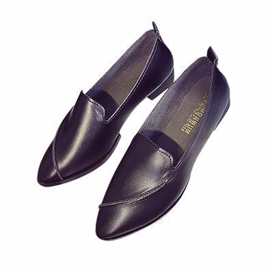 YUCH Womens Single Schuhe Flache Unterseite Komfortablen Zwanglosen Faul Schuhe