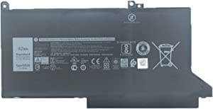 SUNNEAR DJ1J0 11.4V 42Wh 3500mAh Laptop Battery Replacement for DELL Latitude 12 7000 7280 7290 Latitude 13 7000 7380 7390 Latitude 14 7000 7480 7490 Series Notebook 451-BBZL PGFX4 ONFOH