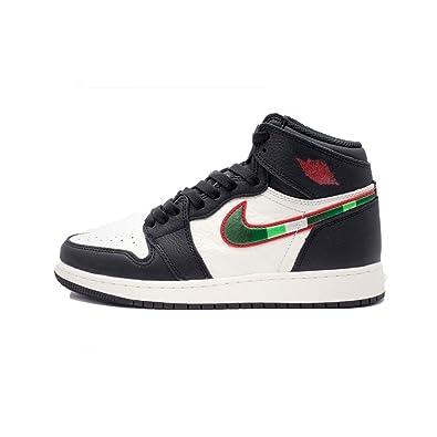 detailed look 86757 593c9 Nike Men s Air Jordan 1 Retro High Og Gs Fitness Shoes, Multicolour (Black