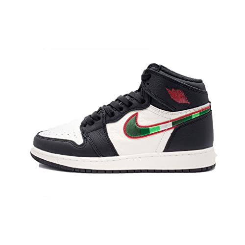 Jordan Air 1 Retro High OG GS, Zapatillas de Deporte para Niños, (Black/Varsity Red/Sail/University Blue 015), 37 2/3 EU: Amazon.es: Zapatos y complementos