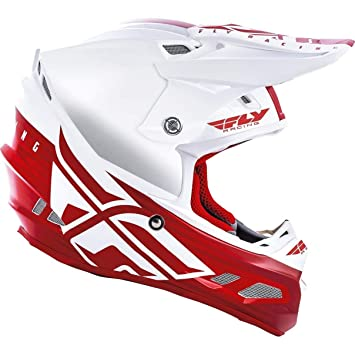 FLy Racing 2019 F2 Carbon MIPS Shield - Casco de Motocross, Blanco y Rojo,