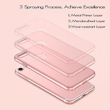 anccer Funda iPhone 7 Plus [Serie Colorida] [Ultra-Delgado] [Ligera] Anti-rasguños Estuche para Case iPhone 7 Plus (Oro Rosa Liso)