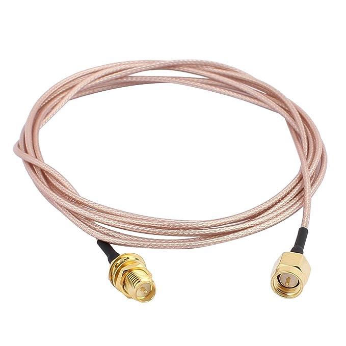 Oro RP-SMA a maschio SMA maschio connettore adattatore RG178 Cavo coassiale 5 m