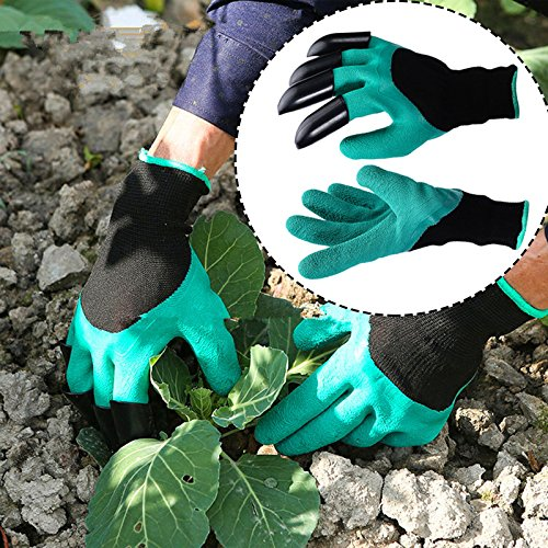 Cushion Living Gardening Gloves- Best Gift for Gardeners- Manual Weeder Tool Digging Planting Seeding Potting Rose Pruning- Right Hand Claw Finger Tips- Better Gardening Equipment- 1 Pair supplier