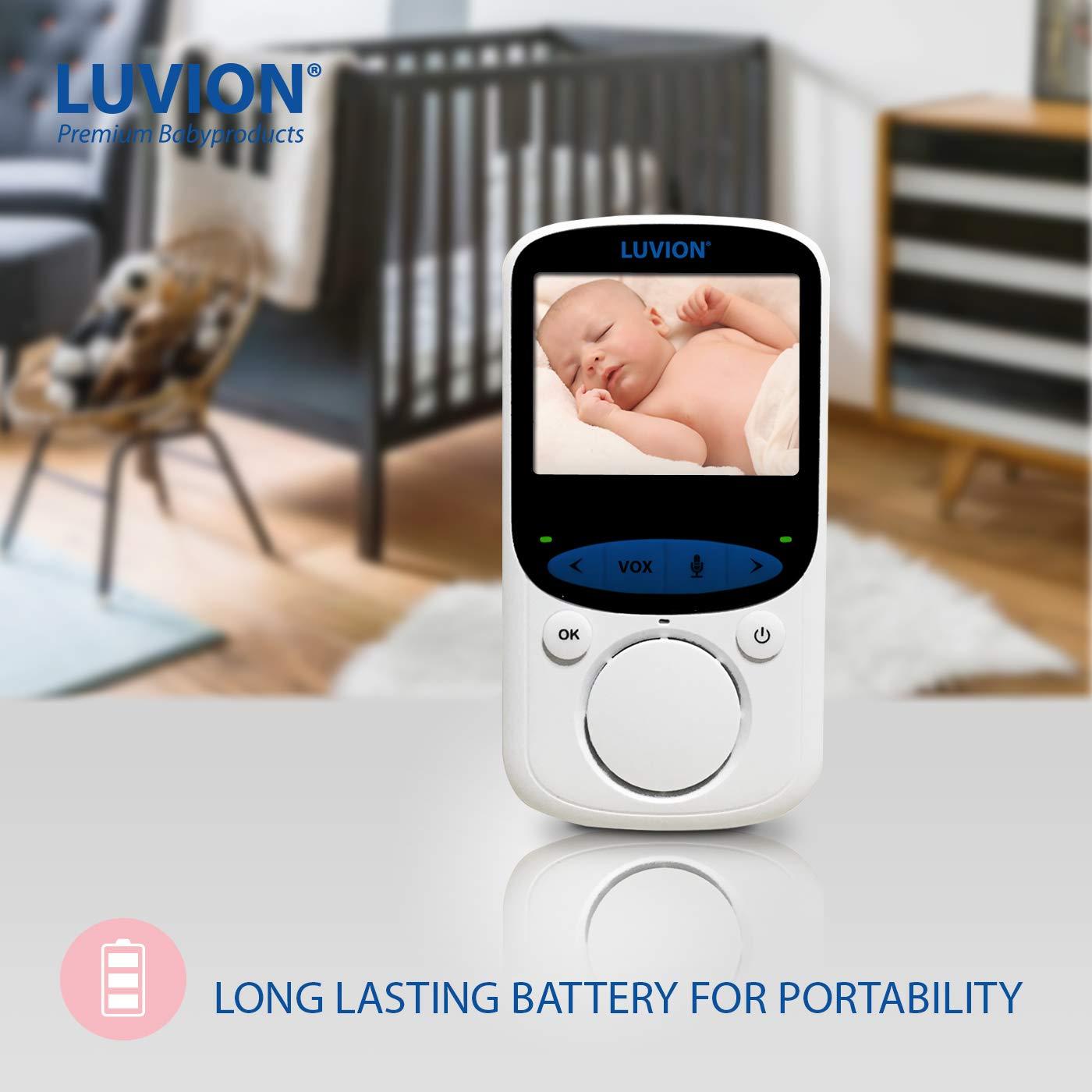 sensor de temperatura LUVION Easy Plus 2.4 LCD,visi/ón nocturna Vigilabeb/és Inalambrico con C/ámara Video