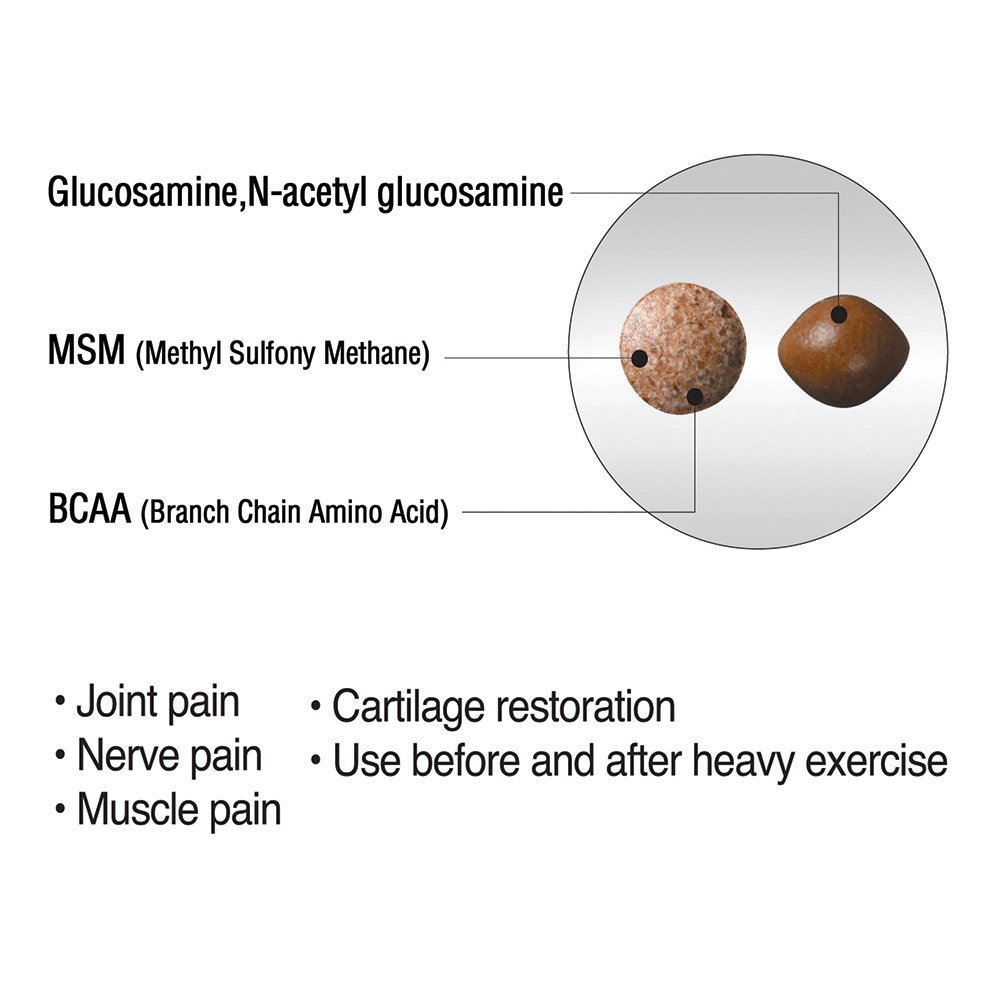 Umeken Duo Action, Glucosamine + Chondroitin + MSM + BCAA + Special Joint Health* Herbal Formula. 1 Month Supply