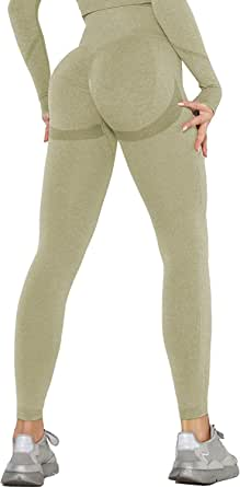 Women's Seamless High Waist Yoga Leggings, Tummy Control Gym Active Yoga Pants Butt Lift Workout Tights