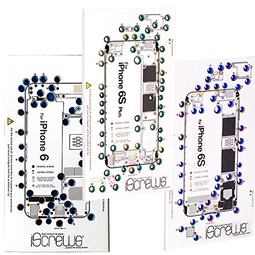 BisLinks iScrews Professional Repair Tray for iPhone 6 + 6S + 6S Plus - 3 Trays
