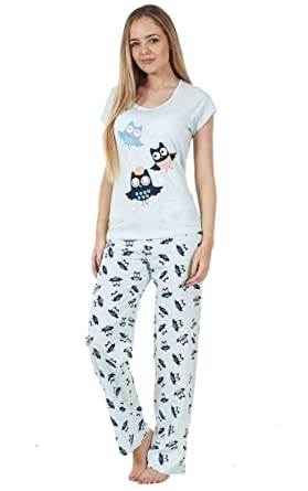 5c8d3d44f869 Ladies Short Sleeve 100% Cotton PJ S Set Nightwear Womens Pyjamas ...
