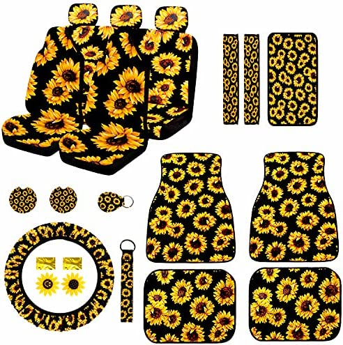 21PCS Sunflower Car Accessories Set, Sunflower...
