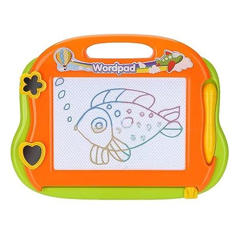 DUTISON Pizarra Mágica para Niños Colorido Magnetica Tablero de Dibujo Infantil Viaje Almohadilla Borrable de Escritura