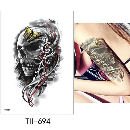 adgkitb Etiqueta engomada Temporal Impermeable del Tatuaje ...