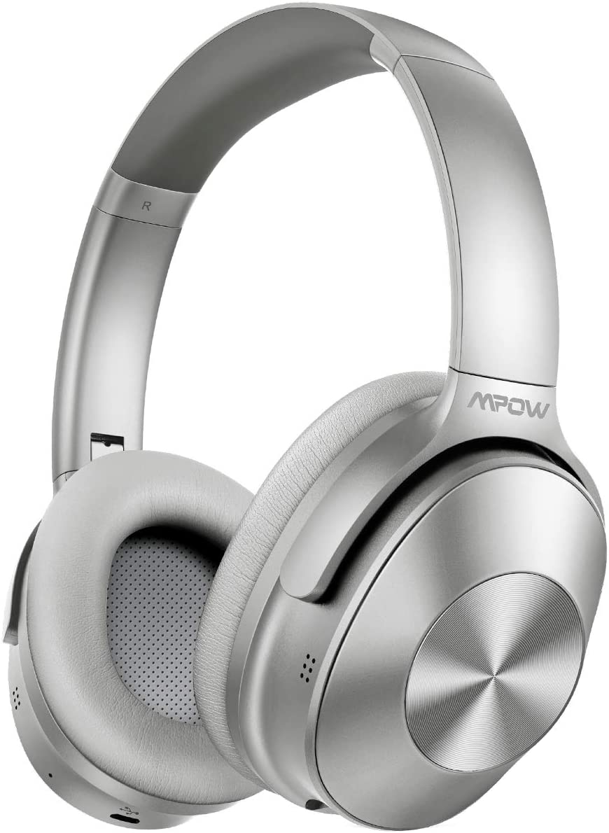 Mpow H12 Noise Cancelling Headphones Bluetooth, Wireless/Wired Headphones Over Ear with Microphone