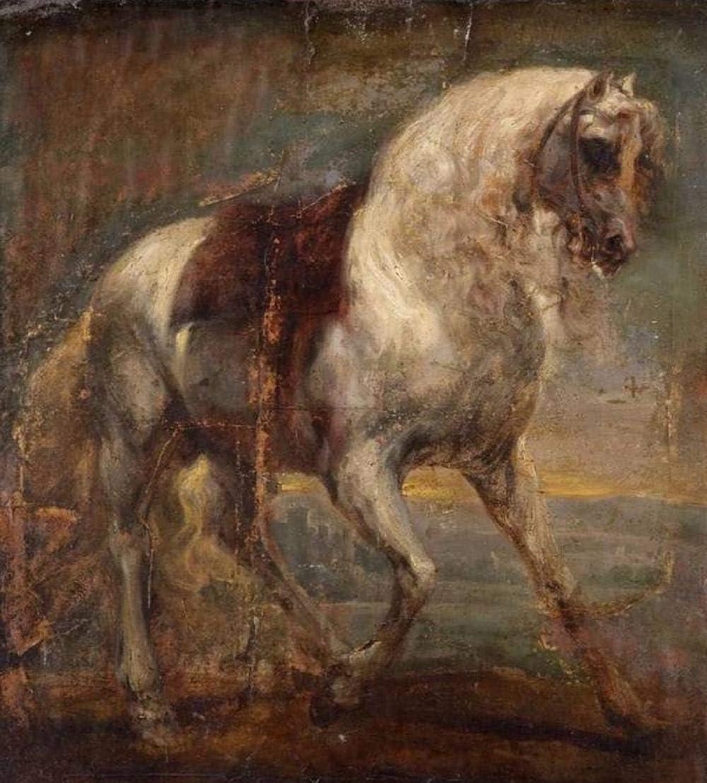 Bouguereau famoso cuadro caballo blanco animal paisaje diy digital pintura al óleo moderna casa arte de la pared 40 * 50 cm